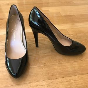 Jessica Simpson Malia Black Patent Leather Pumps